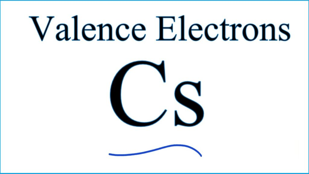 Cesium Number of Valence Electrons