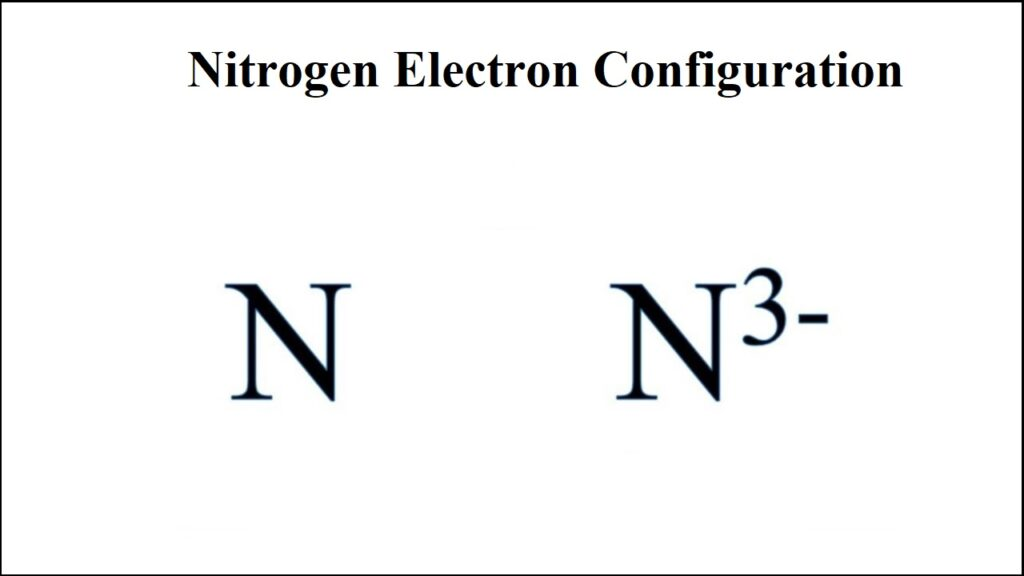 Electron Configuration For Nitrogen Ion