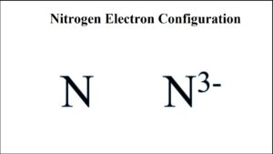 Electron Configuration For Nitrogen Ion