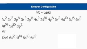 Lead Electron Configuration