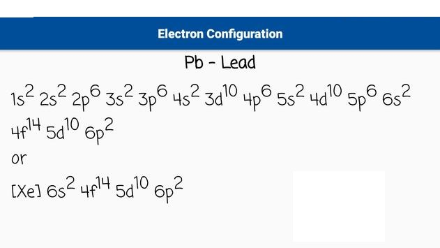 Lead Electron Configuration